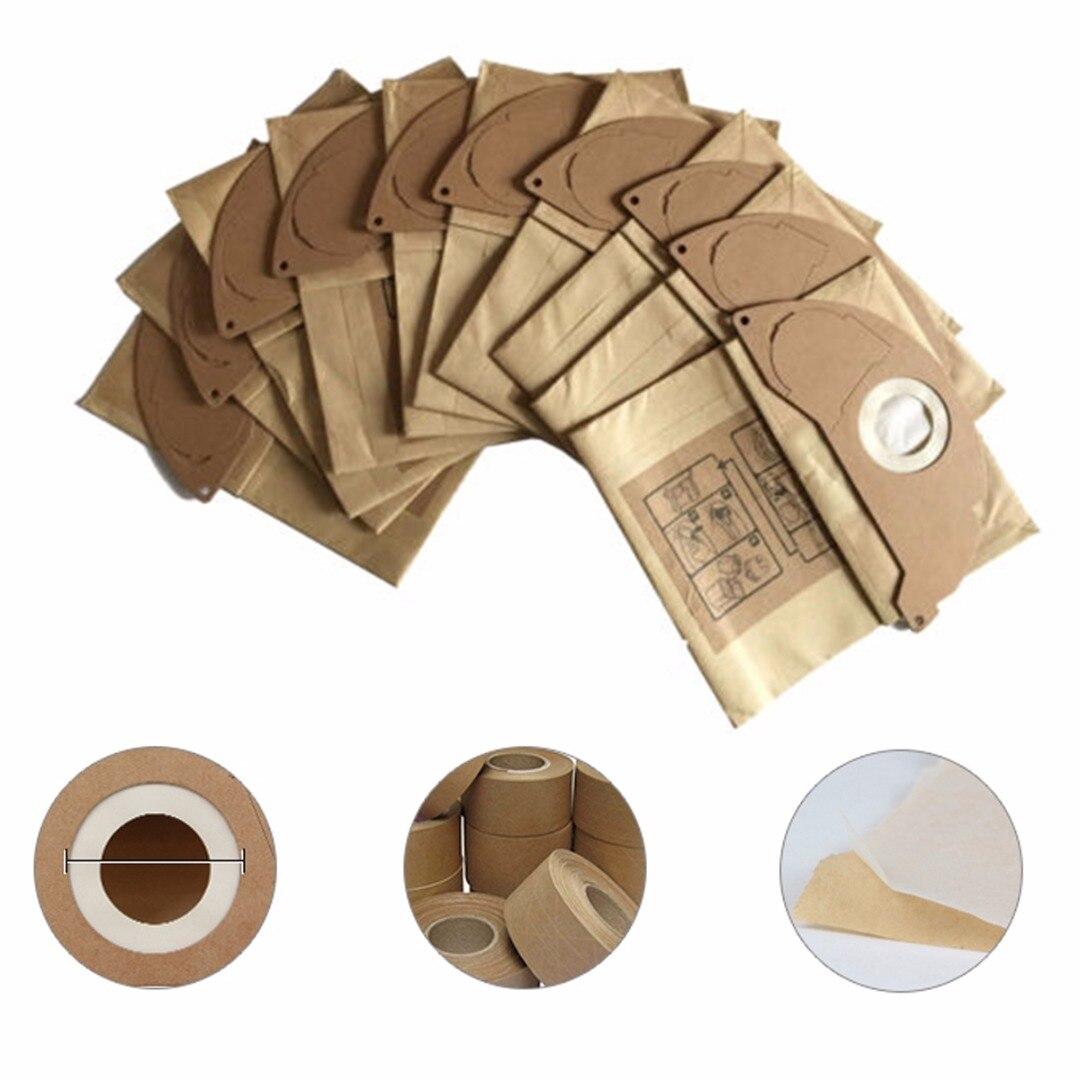 20pcs 250*212mm Vacuum Cleaner Kraft Paper Dust Bag Disposable Filter Bag For Karcher A2024PT A2054 A2064PT