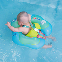 New Baby Swimming Ring Inflatable Child Swim Circle With Safety Belt Infant Floating Kids Trainer Ring Swimming Pool Accessories