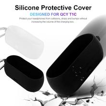New High-quality Silicone Protective Headsets Cover Wireless Bluetooth Earphones Case For QCY T1C Portable Support Wholesale