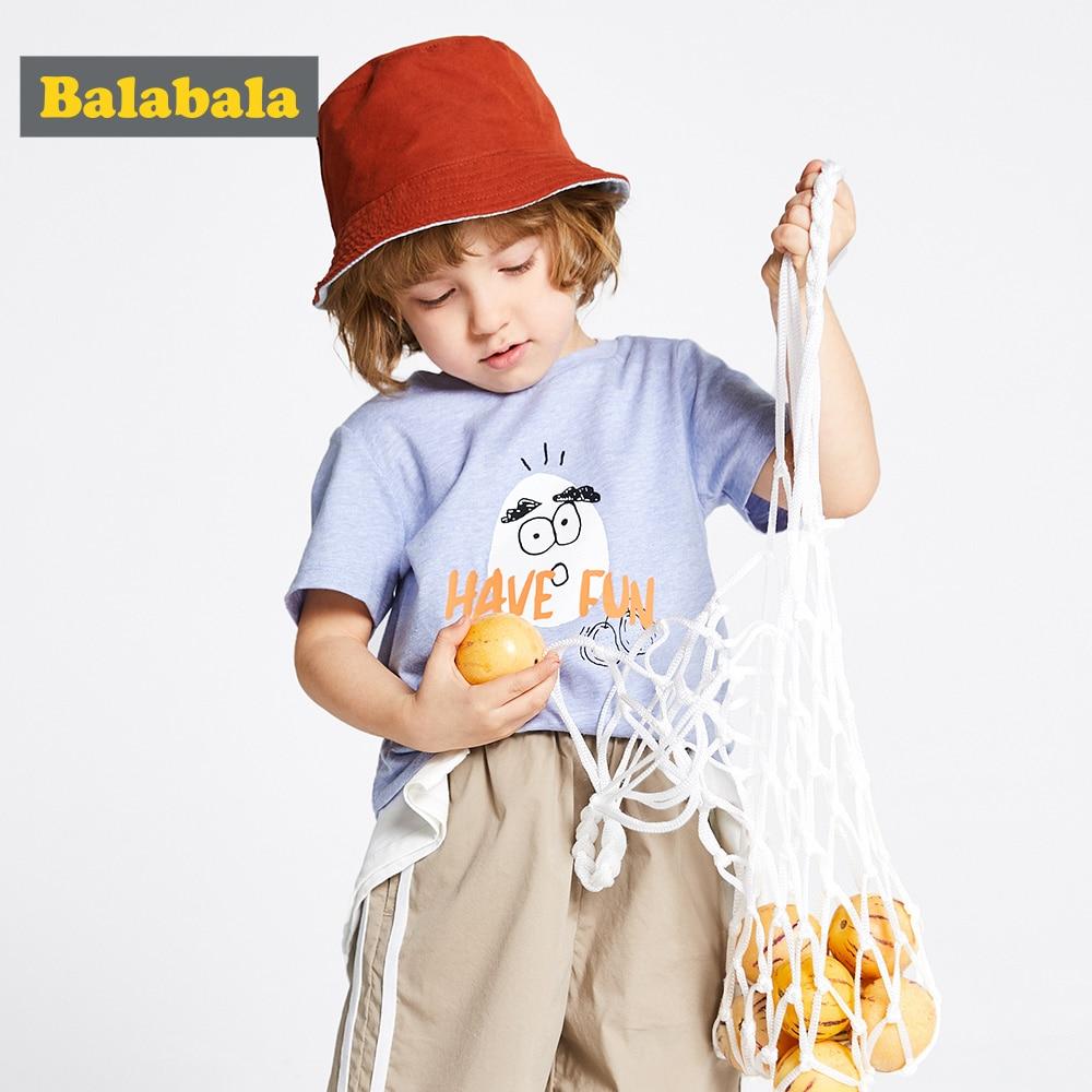 Clothing Balabalaboy Tshirt Short-Sleeve Printed Baby Cotton Children Summer New