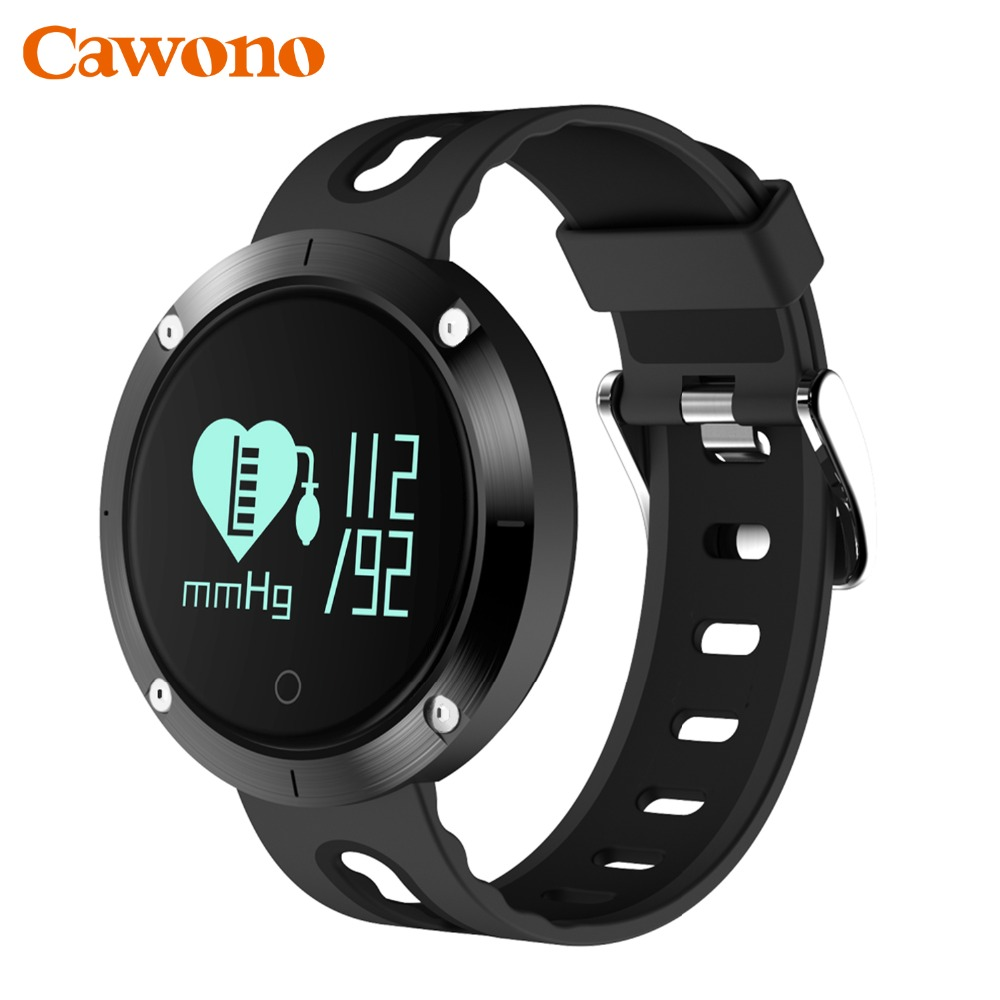 Cawono IP68 Waterproof DM58 Smart Band Fitness Tracker Smart Wristband Blood Pressure Heart Rate Monitor PK Xiaomi Mi Band 2