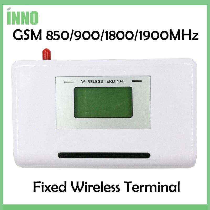 GSM 850/900/1800/1900 mhz Fixed wireless terminal mit LCD display, unterstützung alarm system, TK-ANLAGE, klare stimme, stabile signal