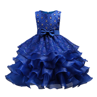 New Flower Girl Party Dress Baby Birthday Tutu Dresses For Girls Lace Sequins Dresses Kids Wedding