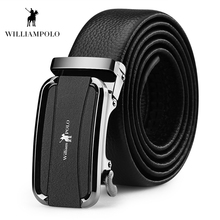Williampolo 2019 Fashion Brand Top Quality Genuine Leather Belts Strap Male Metal Automatic Buckle Riem PL18188P