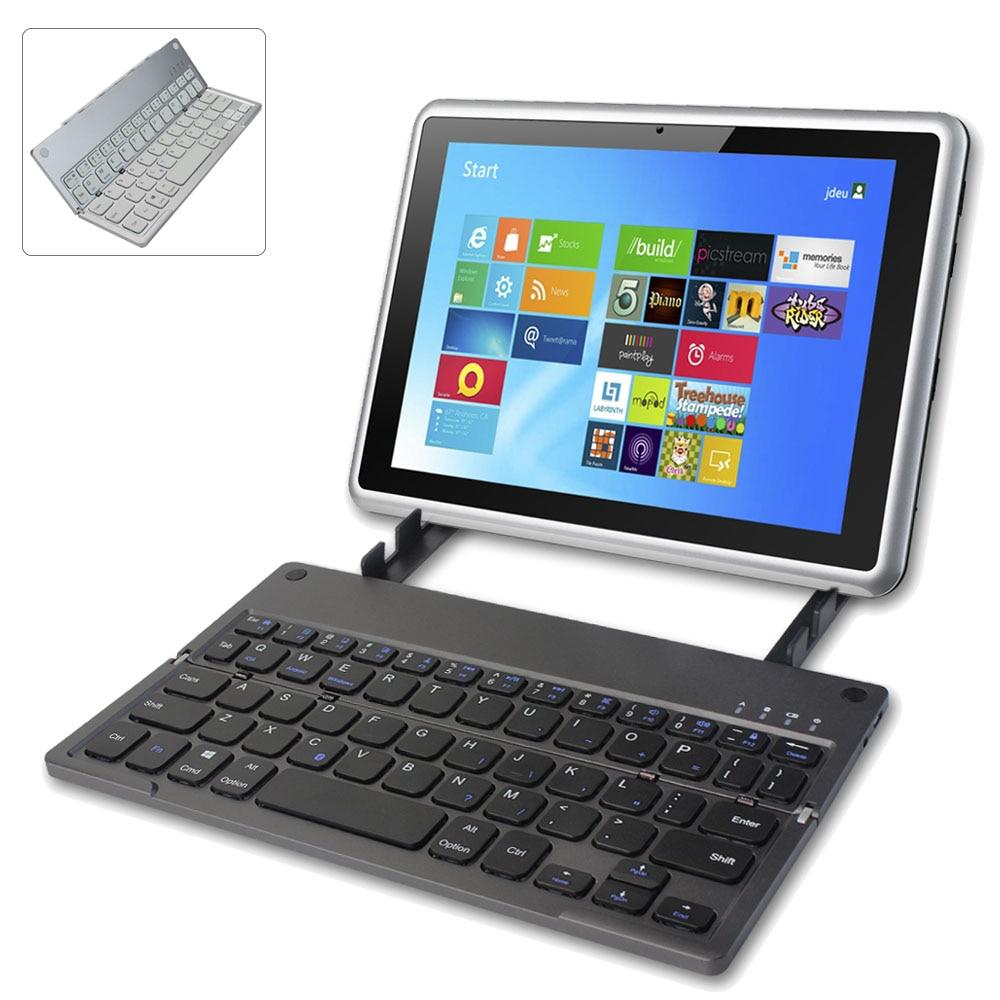 Ultrafino plegable Bluetooth teclado inalámbrico portátil plegable teclado batería de litio recargable para iPad Tablet