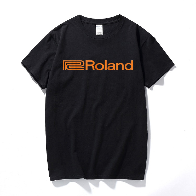Roland Logo T Shirt Music Systems Audio Audiophile Retro Synthesiser Analogue cotton short-sleeved O neck t-shirts