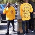 Me Siento como Pablo Pablo sudaderas de Manga Larga Camisa Kanye West Yeezy La I La Vida De Pablo T shirt Hombres Ropa de Marca camiseta