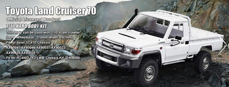 US $199 0 |1/10 Toyota Land Cruiser LC70 Body kits set For AXIAL SCX10  RC8WD TF2 LWB AX90047/ax90046/ax90037-in Parts & Accessories from Toys &