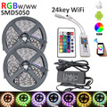 10M RGBW Strip DC12V LED Strip SMD 5050 RGBW LED Flexible Strips Tape+RGBW wifi 24key Remote Controller+6A Power adapter Kit