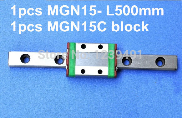 1pcs MGN15 L500mm linear rail + 1pcs MGN15C carriage 1pcs mgn15 l1000mm linear rail 1pcs mgn15c carriage