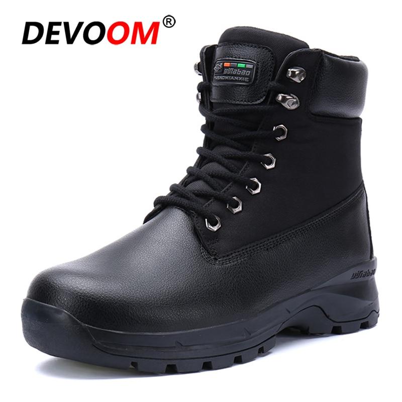 2018 Schnee Schuhe Männer Mode Pelz Winter Stiefel Männer Nicht-slip Wasserdichte Herren Winter Schuhe Neue Ankunft Botas Militares Hombre
