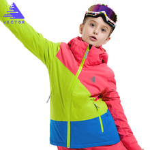 Girls Winter Skiing Jacket -30 Children Snow Coats Clothing Snowboarding Waterproof Thermal