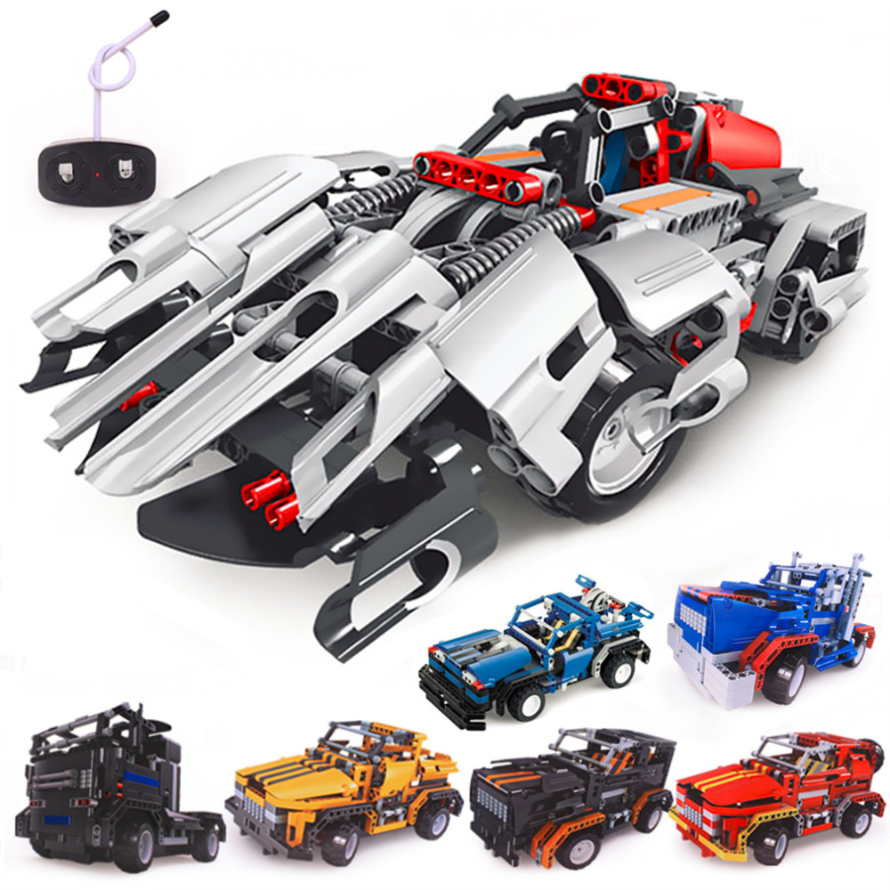 building blocks electrical remote control cars kids children educational toy new salechina