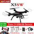 SYMA X5SW X5SW-1 2.4G 4CH 6 A-xis RC Drone Quadcopter with FPV WIFI HD Camera Headless Real Time Helicopter Toys