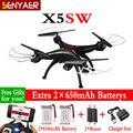 Syma x5sw x5sw-1 2.4g 4ch 6 a-xis rc drone quadcopter con fpv cámara hd wifi sin cabeza real tiempo helicóptero toys