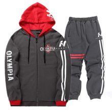 efd254786 Conjunto de Bodybuilding para hombre otoño sudadera para hombre chándal +  Pantalones 2018 OLYMPIA marca ropa deportiva hombre 2 .