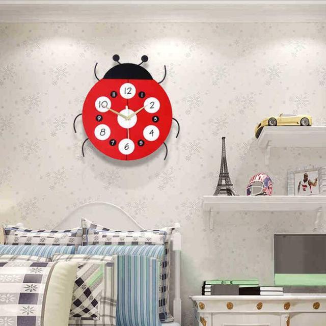 Geekcook Kreative Cartoon Wanduhr Mode Moderne Wohnzimmer Uhr Kinderzimmer  Einfache Wanduhr Schlafzimmer Stumm Dekorative Uhren