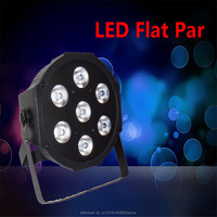 Fast Shipping LED Par Can Wash Light RGBW Color Mixing SlimPar Quad 7 With 4 8