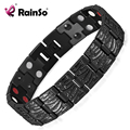 Rainso Jewelry Germanium Health Magnetic Therapy Jewelry Male 4 in 1 Bio Health Titanium Bracelet OTB-065BFIR