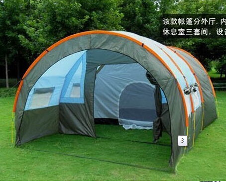 Tunnel  2 Bedroom 1 Living Room 8-10 Person Team Base Party Family Travel Hiking Beach Disaster Relief Outdoor Camping Tent