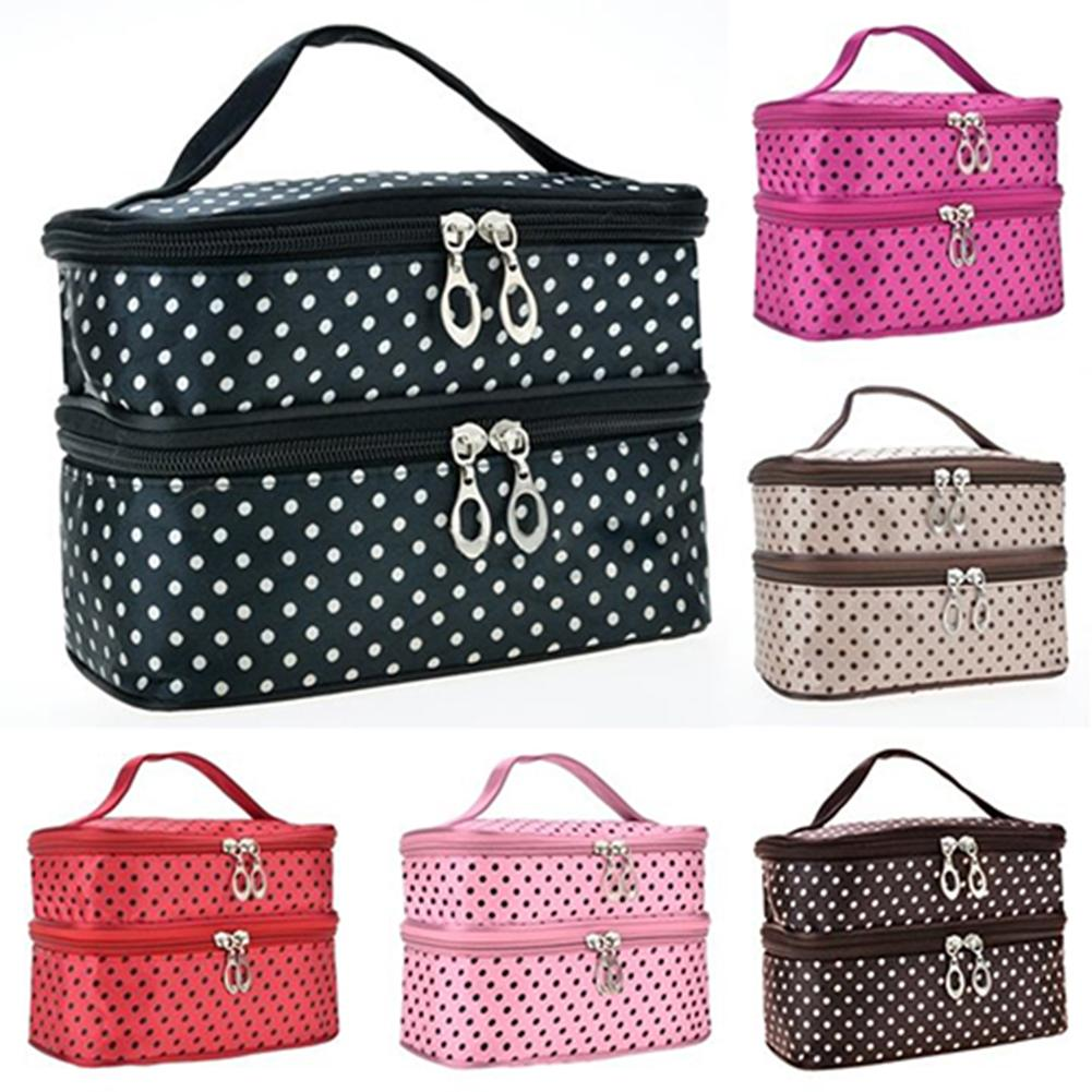 Women Large Cosmetic Makeup Bag Case Travel Double Deck Toiletry Wash Pouch Waterproof Portable Zipper Organizer Storage bagWomen Large Cosmetic Makeup Bag Case Travel Double Deck Toiletry Wash Pouch Waterproof Portable Zipper Organizer Storage bag