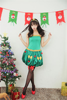 Age 18 35 yrs Sexy Adult Women Christmas Costume Christmas Party Sweetheart Miss Santa Cosplay Dress+Headwear