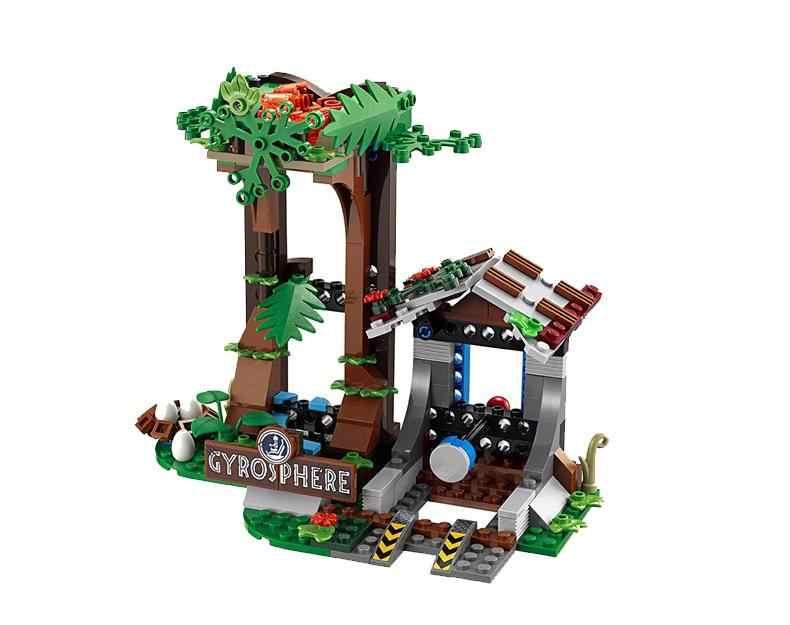Legoing 75929 648 pcs Mundo Jurássico Parque 2 Gyrosphere Fuga Carnotaurus dinossauro Dragão Figuras Building Blocks Brinquedos