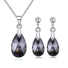 Bulage Original Crystals From SWAROVSKI Jewelry Sets Mini Water Drop Pendant Necklaces Earrings For Women Lovers Gift swarovski lovely crystals mini 5242904