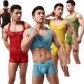 Hombres Translucent Mallas Sexy Transpirable Camiseta Ocasional Equipamiento Casero Camisetas Sin Mangas (no Incluye Pantalones Cortos)