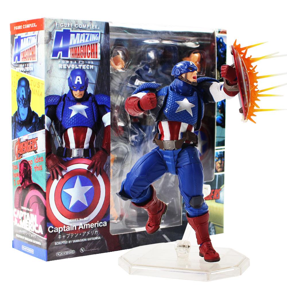 16cm-font-b-avengers-b-font-assemble-revoltech-amazing-yamaguchi-captain-america-series-no007-pvc-action-figure-collectible-model-toy