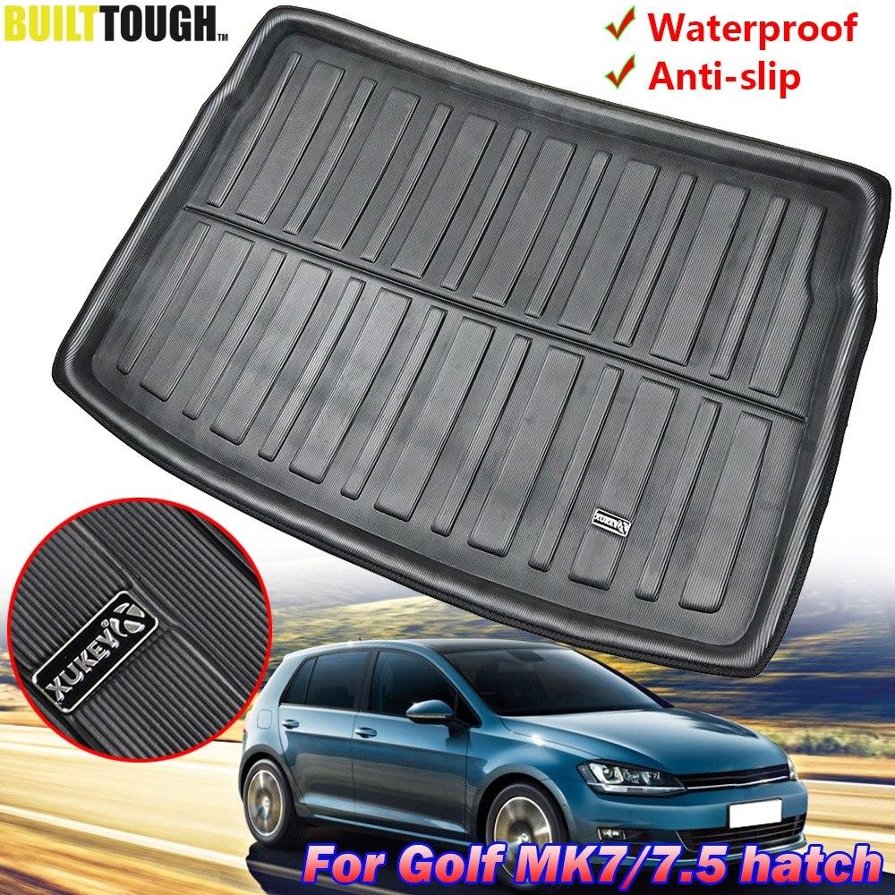 Car Mats Bespoke Clio MK4 boot mat liner tray protector 2013-2019 tailored fit black waterproof 3D Design
