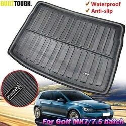 Задний коврик для багажника, поднос для багажника, напольный коврик, грязь для Volkswagen VW Golf GTI R Mk7, хэтчбек 2013, 2014, 2015, 2016, 2017, 2018