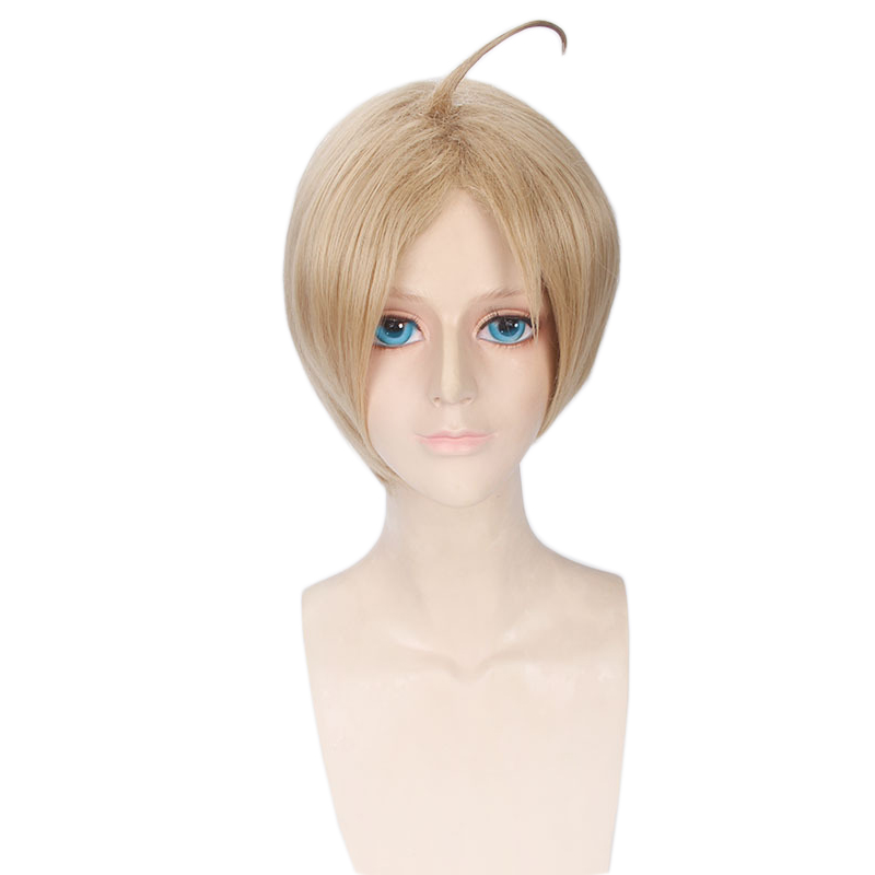 Anime APH Hetalia Axis Powers America Alfred F Jones Wig Cosplay Costume Men Short Synthetic Hair Halloween Party Wigs