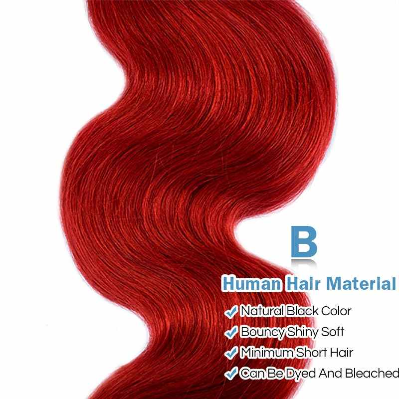 Remyblue дерзкие красные пучки человеческих волос перуанские волнистые волосы бордовые пучки предложения 4 шт 10-26 дюймов remy волосы переплетения наращивание