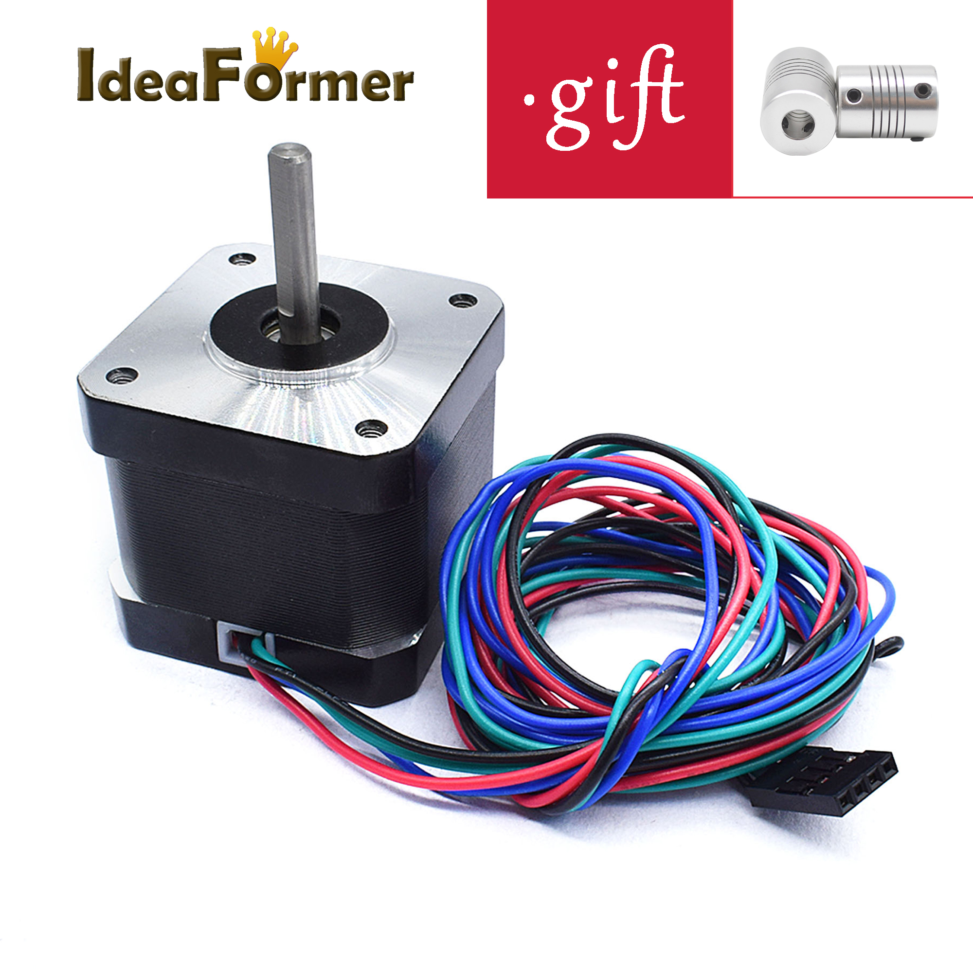 NEMA17 Stepper Motor (HS4401) with GIFT coupler Height 40 mm 1.7A Engine and CNC XYZ-Axis motor 4-lead 3D printer parts