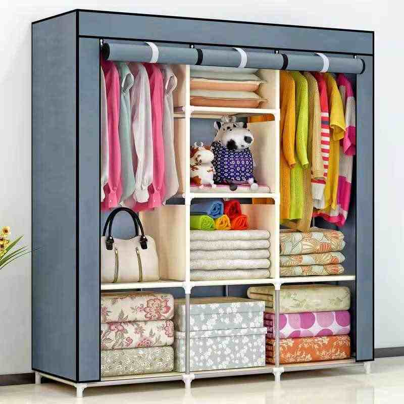 2018 DIY Non-woven fold Portable Storage  furniture When the quarter wardrobe  Cabinet bedroom furniture wardrobe bedroom organ
