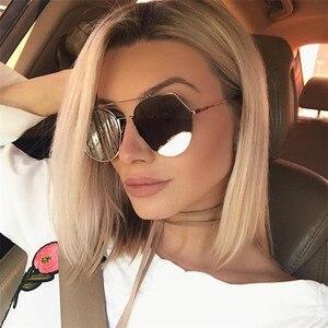 Fashion Women Sunglasses Brand Original Designer irregular shape Mirror Flat Panel Lens Summer Shades sun glasses for ladies
