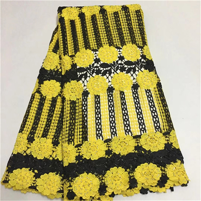 Fast Shipping African Swiss Voile Lace High Quality African Guipure Lace Fabric With Stones Embroidered Lace