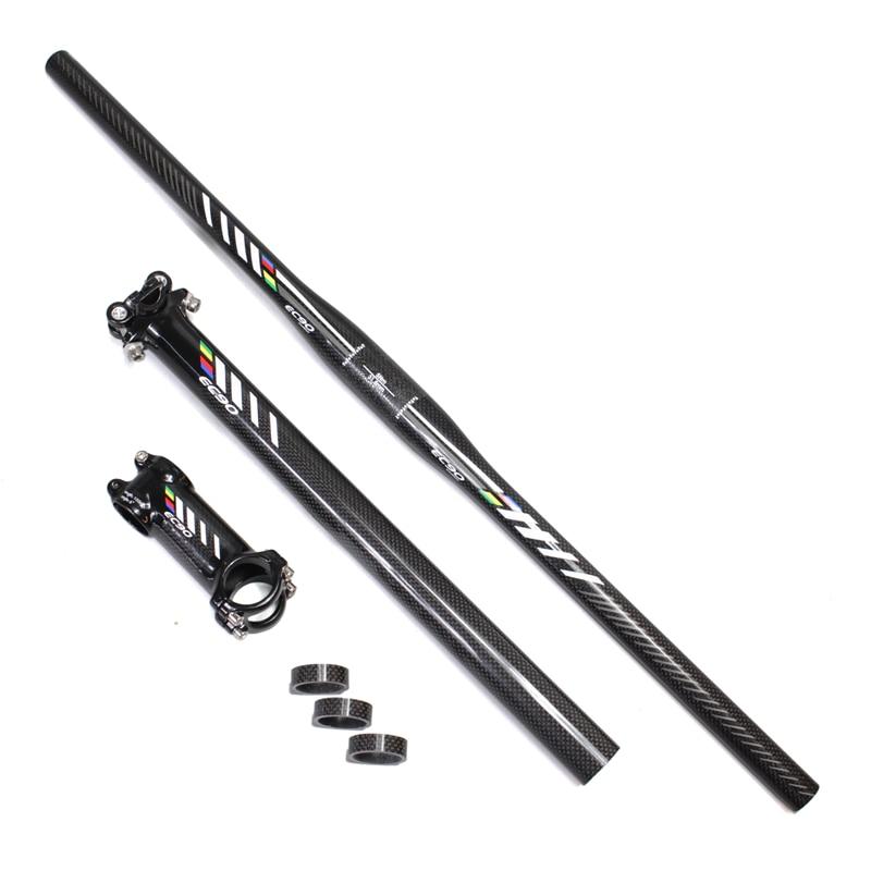 EC90 MTB Carbon Handlebar Bicycle Parts Parts Handlenar + Saetpost + - Հեծանվավազք - Լուսանկար 5