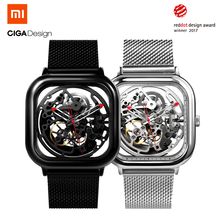 Xiaomi CIGA Дизайн выдолбленные Механические часы Reddot победитель нержавеющей Модные Роскошные автоматические часы Для мужчин Для женщин