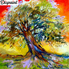 Dispaint Full Square/Round Drill 5D DIY Diamond Painting Oil painting tree Embroidery Cross Stitch 3D Home Decor A10835