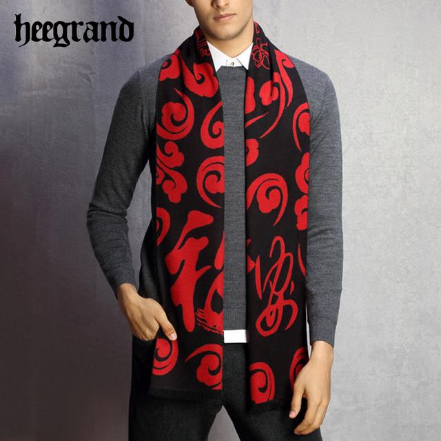 Hee grand 2017 otoño y el invierno de algodón para hombres de cachemira bufanda caliente gruesa estilo coreano bufandas bufandas de impresión masculina de negocios pwm105