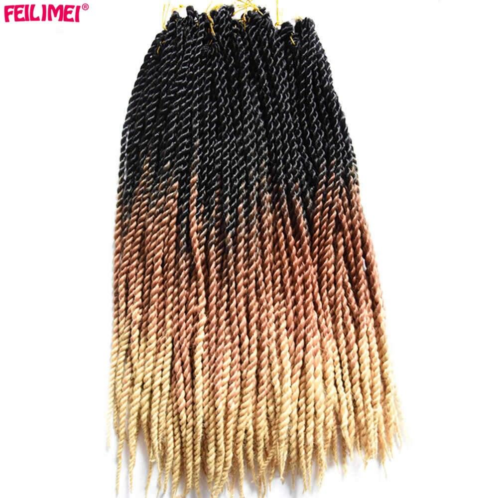 Feilimei Ombre Senegalese Twist Braiding Hair 24inch 100g