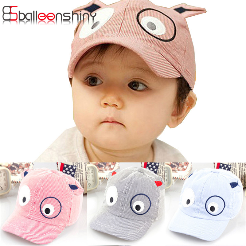 Cotton Comfortable Infant Hats Cute Casual Striped Soft Eaves Baseball Cap Beanies Newborn Baby Boy Beret Baby Girls Sun Hat