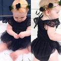 Bebê recém-nascido Meninas Macacão Crianças Verão Tutu Vestido Infantil Bodysuit Roupas Outfit 0-24 M