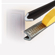 6M  Brown V-type self adhesive security door seal strip Anti-collision windproof soundproof gaskets