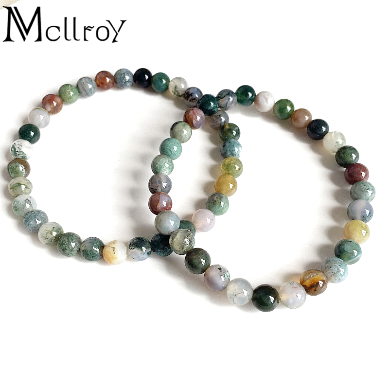 Buy mcllroy couple bracelets for women men genuine natural stone beads strand - Bracelet viking homme ...