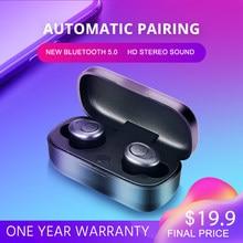 IPUDIS TWS 5.0 Fone de Ouvido Bluetooth Estéreo Sem Fio Fone De Ouvido HiFi Mini Caixa HD Microfone Fones De Ouvido com Charing