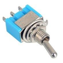 Blue Мини 10 шт./лот МТС-102 3-контактный SPDT ON-ON 6A 125VAC Миниатюрный Тумблеры VE067re P12 0.3