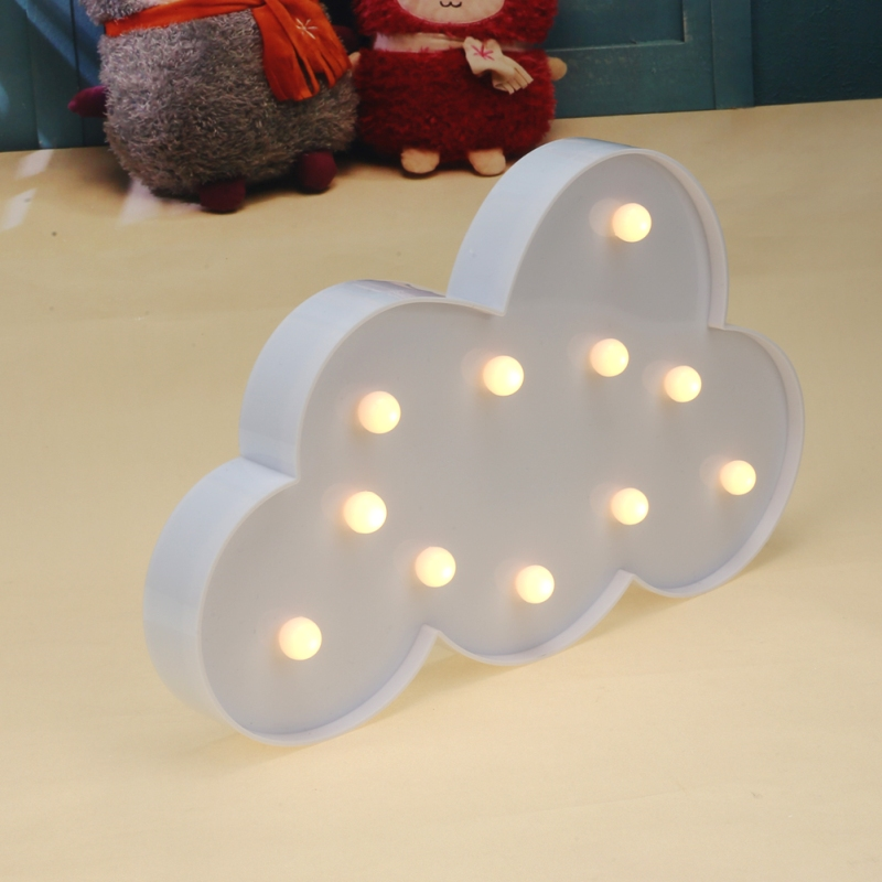 15lm LED Night Light Cute Cloud Shape Christmas Party Light Festival Lighting 3D Desk Lamp Kids Room Decoration LED Light